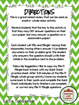 Multi-Digit Multiplication: Mix n' Mingle *Individual Worksheet Included*
