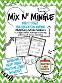Multi-Digit Multiplication: Mix n' Mingle *Individual Work