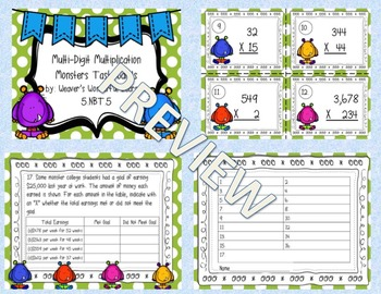 Multi-Digit Multiplication Monsters