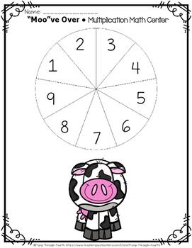 "Multi-Digit Multiplication ""Moo""ve Over {Math Center}"