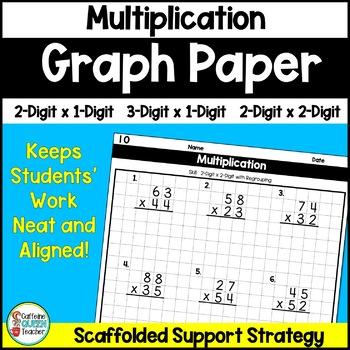 Multiplication Worksheets: Multi-Digit Multiplication on Graph Paper
