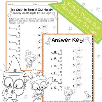 Multi-Digit Multiplication Worksheet Halloween by Teachers ...