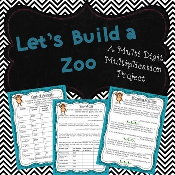 Zoo Multi-Digit Multiplication Project