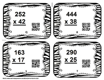 Multi-Digit Multiplication QR Task Cards