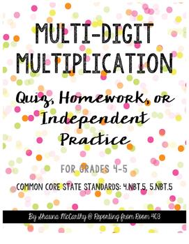 Multi-Digit Multiplication Quiz or Practice