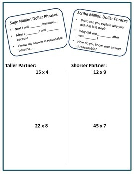 Multi-Digit Multiplication Pair Practice