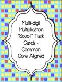 "Multi-Digit Multiplication ""Scoot"" Task Cards -Common Core Aligned"