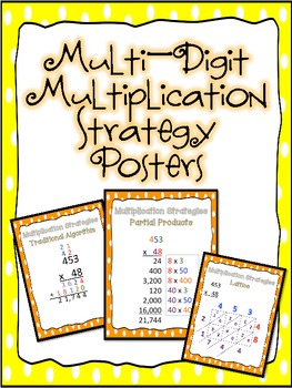 Multi Digit Multiplication Strategy Posters