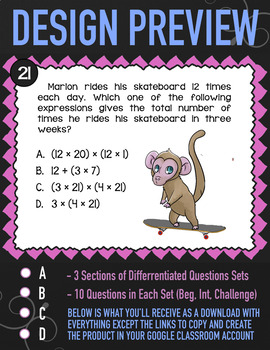 Multi-Digit Multiplication Task Cards ★ 4th Grade Google Classroom ★ Math 4.NBT5