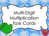 Multi-Digit Multiplication Task Cards (Mittens Theme)