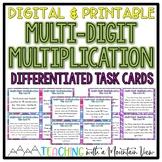Multi-Digit Multiplication Task Cards Word Problems