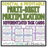 Multi-Digit Multiplication Task Cards Word Problems   Distance Learning   Google