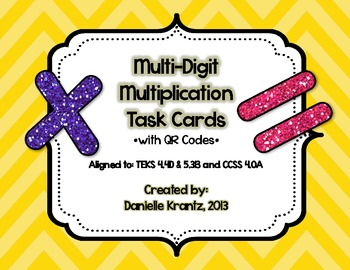 Multi-Digit Multiplication Task Cards with QR Codes
