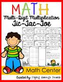 Multi-Digit Multiplication Tic-Tac-Toe {Math Center} -Differentiated (108 Cards)
