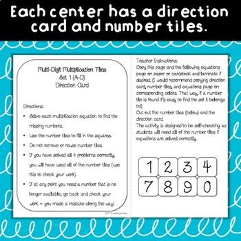 Multi-Digit Multiplication Tiles