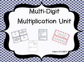 Growing Multi-Digit Multiplication Unit Bundle (Common Cor