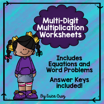 Multi-digit Multiplication Worksheets Teaching Resources | Teachers ...