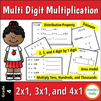 Multi Digit Multiplication Worksheets | Distance Learning