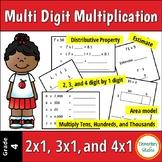 Multi Digit Multiplication Worksheets   Distance Learning
