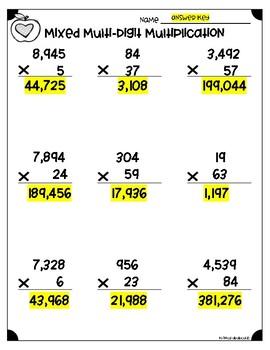 multidigit multiplication worksheets nbtb  nbtb by  multidigit multiplication worksheets nbtb