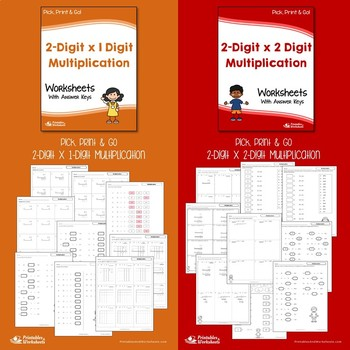 Multiplying Multi-Digit Numbers Worksheets With Answer Keys
