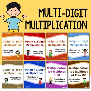Multi-Digit Multiplication Worksheets With Answer Keys