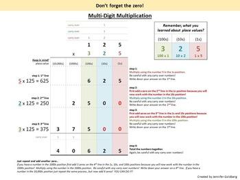 Multi-Digit Multiplication: Step-by-Step Guide & Write and Wipe Worksheet