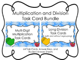 Multi-Digit Multiplication and Division Task Cards Bundle
