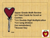 Multi-Digit Multiplication and Division Task Cards (Valentines)