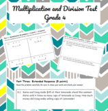 Multi Digit Multiplication and Division Test
