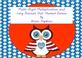 Multi-Digit Multiplication and Long Division Board Games - Owls
