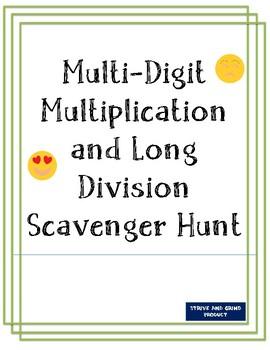 Multi-Digit Multiplication and Long Division Scavenger Hunt