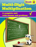 Multi-Digit Multiplication - grade 4, common core
