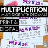 Multi-Digit Multiplication with Decimals SCOOT - 5th Grade