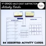 Multi-Digit Subtraction: 4th Grade Activity Cards