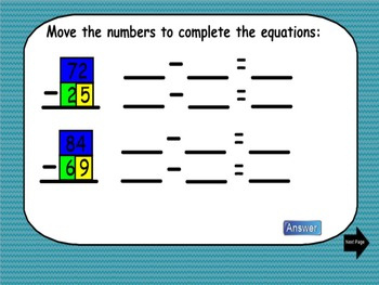 Multi-Digit Subtraction (Break It Up and Subtract in Parts): A SmartBoard Lesson
