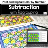 Multi-Digit Subtraction Color by Number (fall colors)