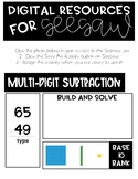 Multi-Digit Subtraction Digital Resources for Seesaw