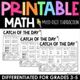 Multi-Digit Subtraction Practice - Printable - Test Prep
