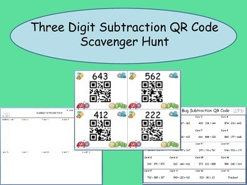 Multi-Digit Subtraction QR Code Scavenger Hunt