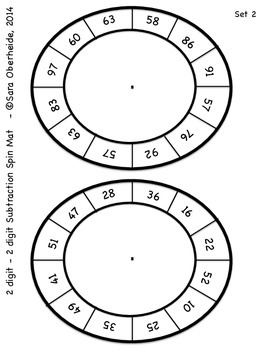 Multi-Digit Subtraction Spin Mats