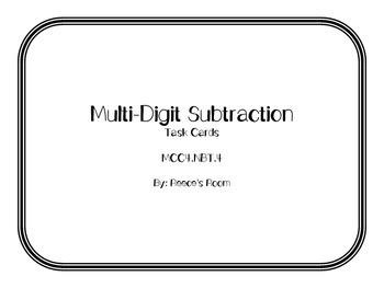 Multi Digit Subtraction Task Cards