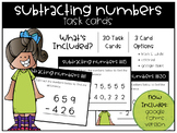 Subtracting Numbers Task Cards