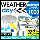 Multi-Digit Subtraction  - Weather Classroom Transformation