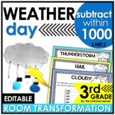 Multi-Digit Subtraction  - Weather Real World Math Activity