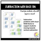 Multi Digit Subtraction with Base Ten MAB Blocks