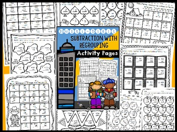 Multi-Digit Subtraction with Regrouping Activity Pages - NO PREP