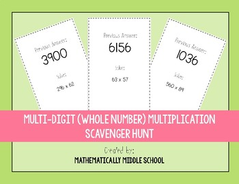 Multi-Digit (Whole Number) Multiplication Scavenger Hunt