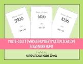 Multi-Digit (Whole Number) Multiplication Scavenger Hunt