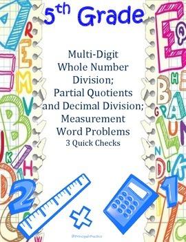 Multi-Digit Whole Number and Decimal Division Quick Checks